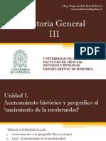 Unidad 1 Acercamiento Histórico y Geográfico Al Nacimiento de La Modernidad (Avances)