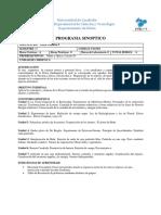 Programa de Fisica Cuántica I