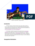 Carnatic Sangeet the South Indian System of Music