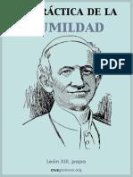Papa Leon XIII La Practica de La Humildad