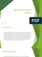 Estados Financieros y Cierre