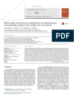 PIONA Analysis of Kerosene by Comprehensive Two-dimensional Gas Chromatography Coupled to Time of Flight Mass Spectrometry