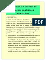 Antecedentes (El Reciclaje y Control de Desechos Orgánicos e Inorgánicos) Formato