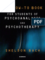 Bach_How to Book for Students of Psychoanalysis & Psychotherapy