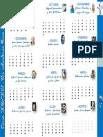 """Calendario Anual """"Un calendario lleno de vidas"""""""