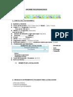 Informe Psicopedagogico Modelo Inclusión