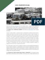 Cinco Problemas Del Transporte en Lima