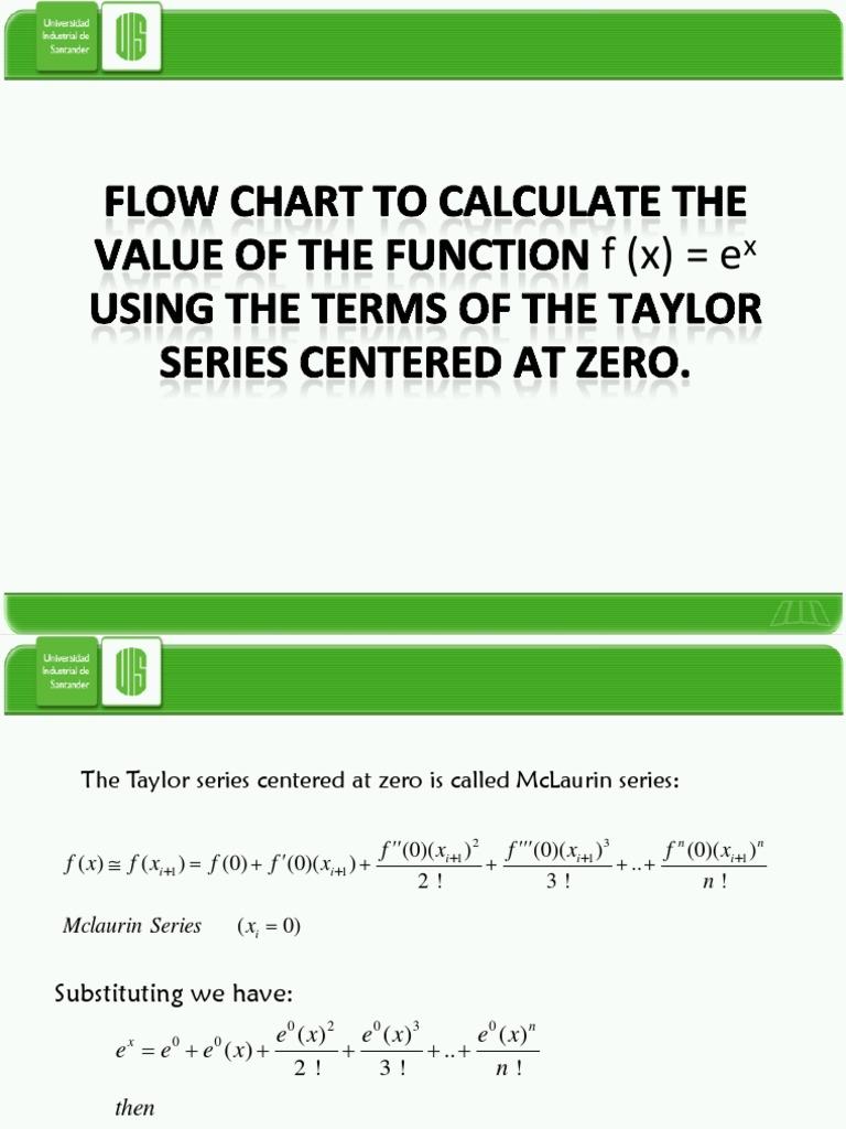 Flow chart taylor series of f ex nvjuhfo Choice Image