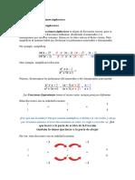 Operaciones Con Fracciones Algebraicas