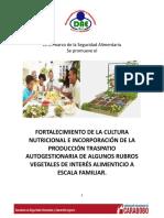 Unidades Didácticas Del Cambio de La Cultura Alimentaria y La Cultura Traspatio.