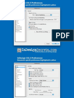 InDesign CS5.5 Preferences