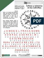 Criptograma Con Estrella Letras y Numeros CLAVE