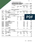 Analisis de Precios Unitarios Completo Presupuesto Muro de Contencion