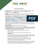 Flash Fiction Contest Rules 2016
