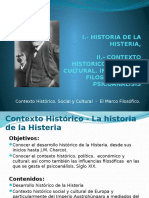 2da I Clase de TD1_ 2013 II _ I.- Historia de La Histeria II.-contexto Historico, Social y Filosofico.