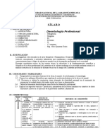 Sílabo de Deontología Profesional 2012-II