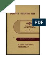 Cincinnati Toolmaster operators manual