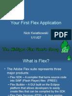 Your First Flex Application