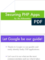 zend security, Securing PHP Applications