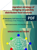 Optimal migration strategy of species foraging on patchily distributed food sources