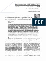A soft-tissue cephalometric analysis and its use in orthodontic treatment planning. Part I