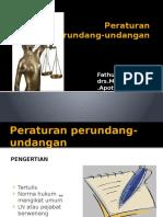 Peraturan Perundang-undangan Profesi