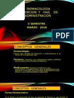 Absorcion y Vias de Administracion 2016