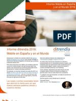 Ditrendia Informe Mobile en España y en El Mundo 2016