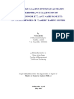 "COMPARATIVE ANALYSIS OF FINANCIAL STATUS AND PERFORMANCE EVALUATION OF HIMALAYAN BANK LTD. AND NABIL BANK LTD. IN THE FRAMEWORK OF ""CAMELS"" RATING SYSTEM"