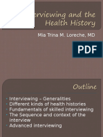 17th August 2016 - PD 03-04 Interviewing & the Health History