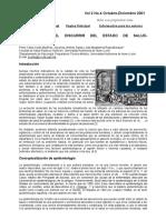 EPIDEMIOLOGÍA, EL DISCURRIR DEL ESTADO DE SALUD-ENFERMEDAD