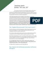 8 Tips de Finanzas Para Monotributistas en Sus 30