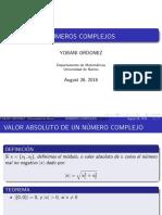 Valor abosluto y orden de los numeros complejos