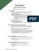 Male Repro Lab Work Manual 2005