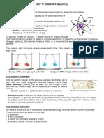Unit Summary Electricity