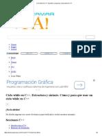 Ciclo while en C++