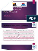 Financial Statement Analysis of Varun Beverages Ltd