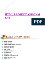HTML Assignment Writing Help Service