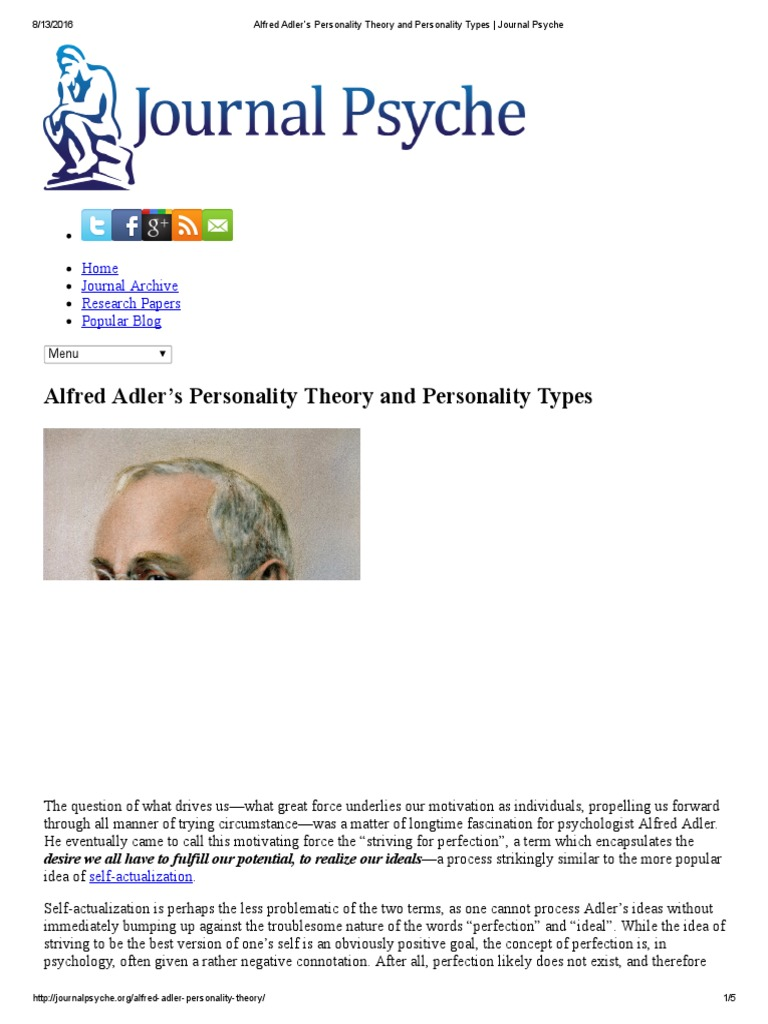 adler theory of personality types