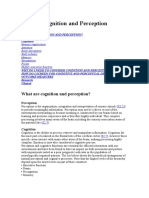Cognition and Perception - Neurological Assessment