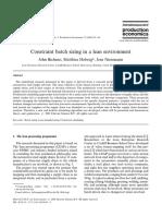 Bicheno, Holweg, Niessmann - 2001 - Constraint Batch Sizing in a Lean Environment