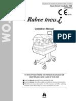 Infant Incubator ATOM Rabee Incu-i Operation Manual