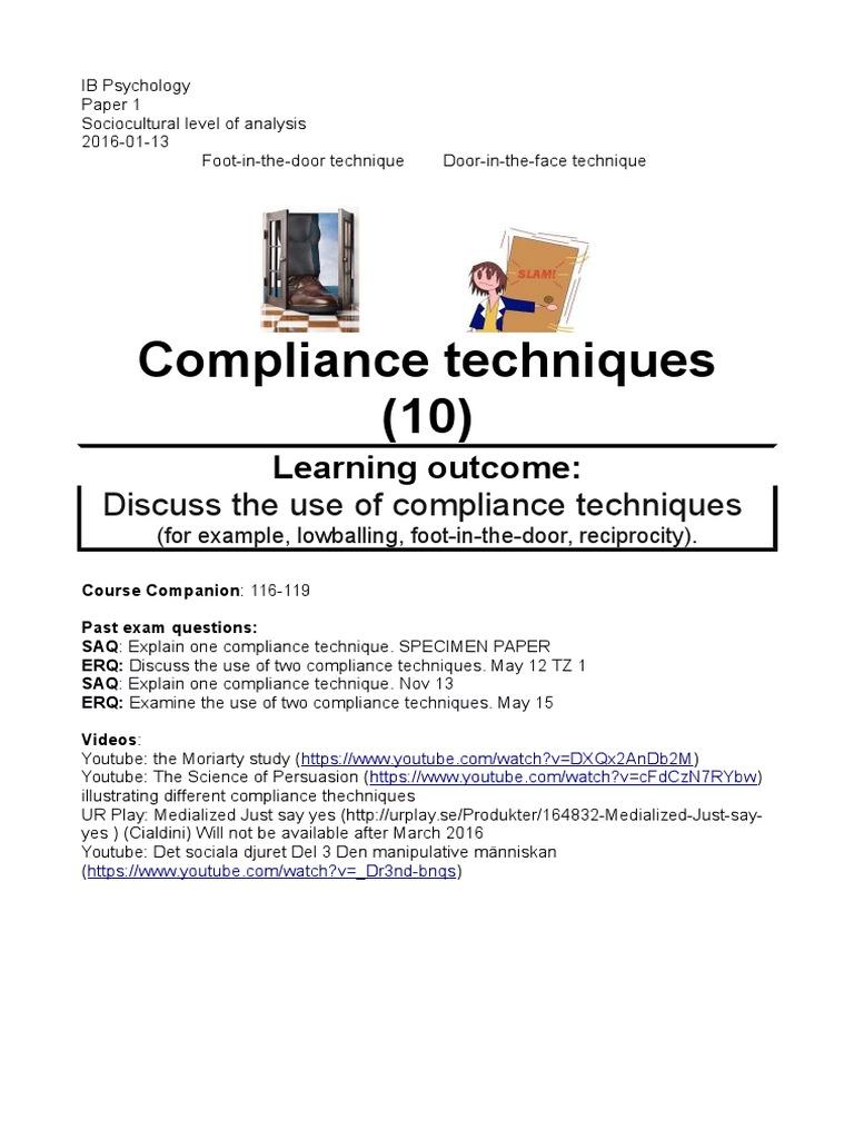 compliance psychology