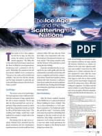 The Ice Age and the Scattering of Nations