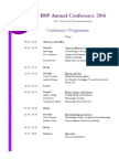 BSP Conference Programme 2016