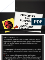 m0dule 1 Principles and Purposes of Language Assesstmnt