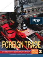Foreign Trade of the Dprk 2016- 02