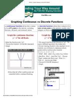 General - Graph Continuous vs Discrete Functions
