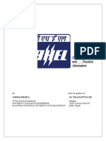 traction motor & alternator report bhel bhopal