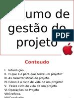Resumo de Gestão Do Projeto